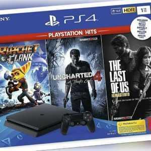 PlayStation 4  Konsole (1TB) inkl. 1 DualShock 4 Controller + PlayStation Hits