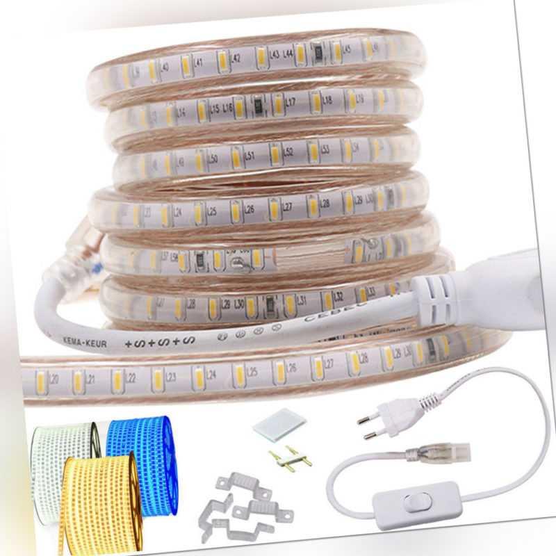 1m-50m 3014 LED Stripe Streifen Lichterkette wasserdicht Lichtband  220V 230V