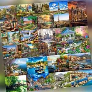 Malen nach Zahlen Kit DIY House View Leinwand Öl Wandkunst Bild Home Decor