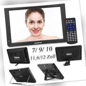 7/9/10/11,6/12 Zoll TFT LED Tragbar Mini TV DVB-T/DVB-T2 Digital Fernseher TOP