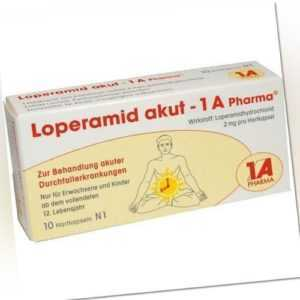 LOPERAMID akut 1A Pharma Hartkapseln 10 St PZN 1338066