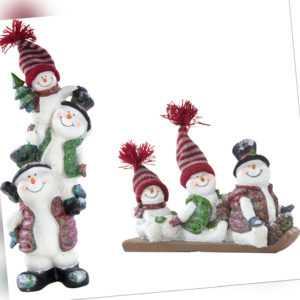 Deko Figur drei Schneemänner - Weihnachtsdeko Weihanchtsfigur Schneemann