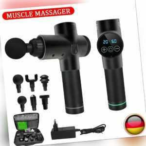 Profi Electric Massage Gun Massagepistole LCD Muscle Massagegerät mit 4/6 Köpfe