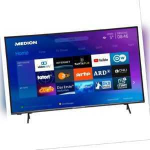 MEDION X15580 Fernseher 138,8cm/55'' Zoll 4K UHD Smart TV 1200MPI HDR10 PVR A+