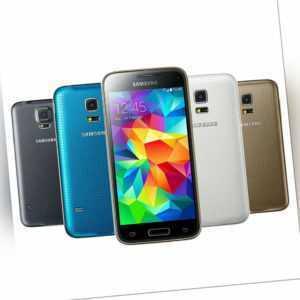 Samsung Galaxy S5 Mini G800F SCHWARZ BLAU GOLD WEIß Android...