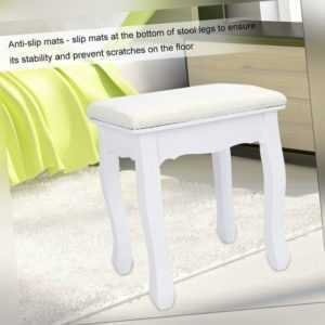 Padded dressing table stool home piano rest makeup seat vintage style HS
