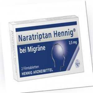 NARATRIPTAN Hennig bei Migräne 2,5 mg Filmtabl. 2 St PZN 3212062