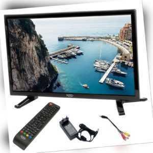 Camping TV LED Fernseher HD 18,5 Zoll 47cm LCD DVB-S2 T2 12V 230V USB Wohnmobil
