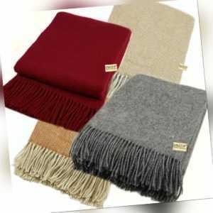 Wolldecke 100% Schurwolle in versch. Farben und Größen