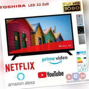 Toshiba LED 32 Zoll 80cm Fernseher Smart TV Full HD WLAN Alexa-NETFLIX DVB T2/C