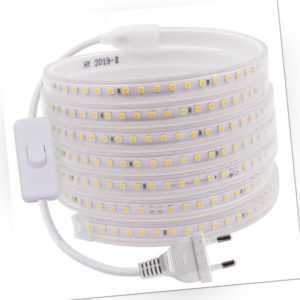 220V 230V Led-Streifen 2835 Stripe Lichtleiste Lichtschlauch Wasserdicht 1-100m