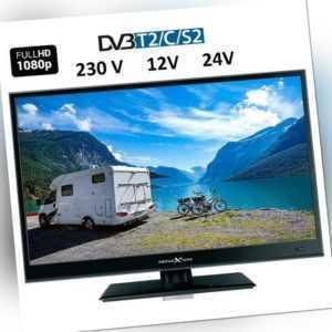 16 Zoll Full HD LED TV DVB-S2 DVB-T2 CI+ 12V/24 230V A Camping,Reise,LKW,Mobil
