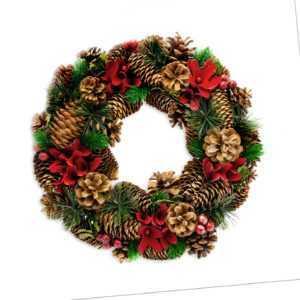 Weihnachtskranz, Adventskranz, Türkranz für Weihnachten und Winter, Tischdeko