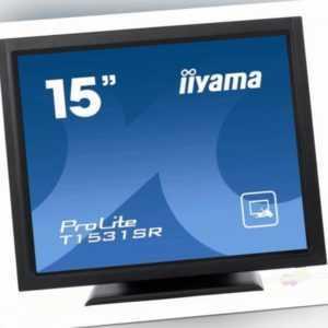 "iiyama 38cm (15"") Touch LED ProLite LCD T1531SR Full HD schwarz T1531SR-B5 NEU"