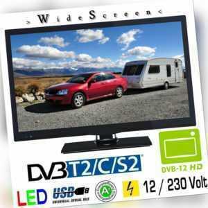 Fernseher 22 Zoll B-Ware DVB/S/S2/T/T2/C USB 12V 230V