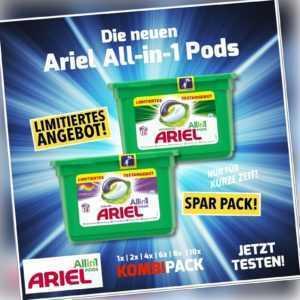 SET ARIEL All-in-1 Pods Color und Regulär Waschmittel - je 13WL; EEK A+