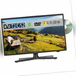 Reflexion LDDW200 LED HD TV 20 Zoll TV DVB-S2/C/T2 DVD 12/24/230 Volt Camping