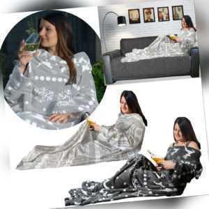 Kuscheldecke mit Ärmeln Ärmeldecke 200 x 150 Decke mit Armen TV