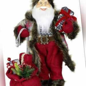 Deko Weihnachtsmann Figur Santa Darius 45 cm Santa Claus Nikolaus Weihnachten