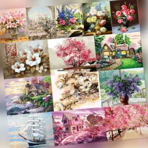 Malen nach Zahlen Kit DIY Leinwand Öl Kunst Bild Home Wall Decor Home Wall
