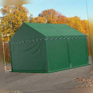 Lagerzelt 3x4m Weidezelt Zelthalle Zeltgarage PVC ca. 500g/m² Zelt dunkelgrün