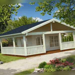 70 mm Gartenhaus Agneta 2 ISO Blockhaus 750x650 cm Ferienhaus Schuppen Holzhaus