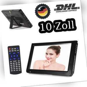 10 Zoll Tragbar Mini TV DVB-T/DVB-T2 Digital Fernseher USB Mediaplayer SUPER
