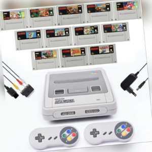 Super Nintendo Konsole 2x Controller Super Mario Kart Zelda Donkey Kong Aladdin