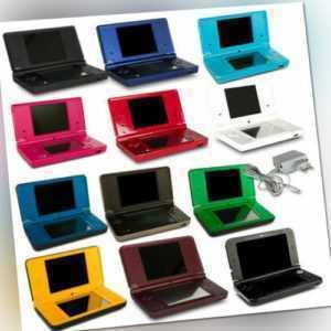 Nintendo DSi DSi XL Konsole schwarz weiß rot blau rosa grün gelb + Kabel + Spiel