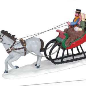 Lemax Sleigh Ride, Weihnachtsdorf, Modellbau, Weihnachtsdeko, Winterdorf
