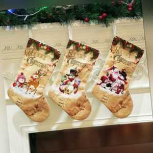 Christmas Stockings Cloth Small Boots Gift Bags Ornaments Party Home Deco.DE