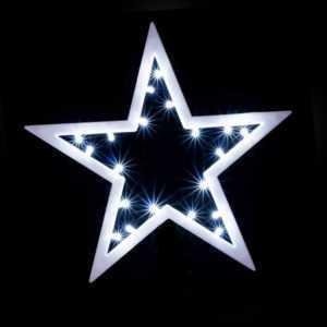 LED Fenster-Silhouette Stern Fensterbild kaltweiß Weihnachten beleuchtet 20 LEDs
