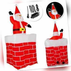 KESSER® Weihnachtsmann Aufblasbar Kamin 178cm LED Beleuchtet Weihnachten Deko