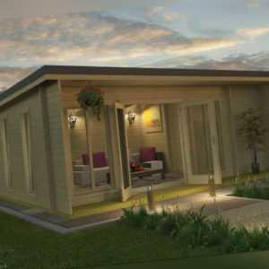 44 mm Gartenhaus 628x410 cm ISO-Glas + Fußboden Gerätehaus Holzhütte Holz Haus