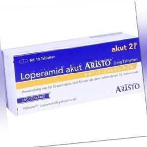 LOPERAMID akut Aristo 2 mg Tabletten 10 St PZN 7756497
