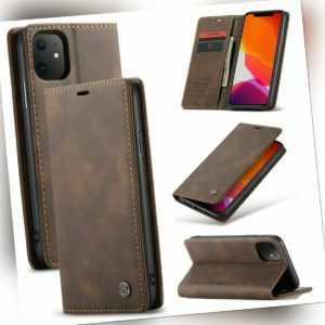 Hülle iPhone 11 / Pro / Max Leder Magnet Handy Tasche Schutzhülle Case Etui