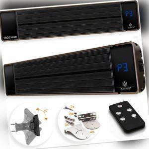 KESSER® Dunkelstrahler 2400W Infrarot Heizstrahler Heizer Terrassenstrahler IP55