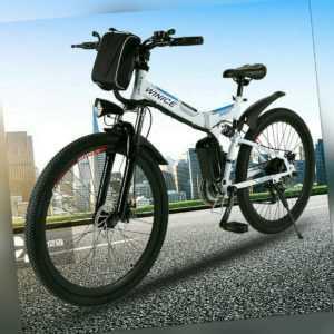 250W Motor Elektrofahrrad 26 Zoll Faltbares E-Bike Mountainbike Klapprad Pedelec
