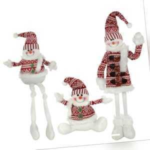Deko Schneemann aus Stoff - Weihnachtsdeko Weihnachtsfigur