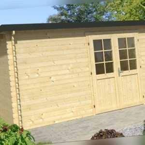 Gartenhaus Evolution Holz Trapezblech Gerätehaus Pultdach Flachdach 4,1 x 3,2 m