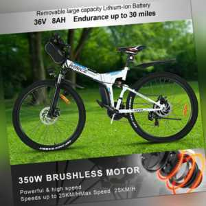 26Zoll Elektrofahrrad Mountainbike E-Bike Pedelec Klappbar Fahrrad Citybike 36V