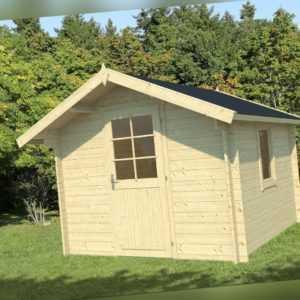 34 mm Gartenhaus 300x300 cm + Tür 2 m HOCH Gerätehaus Holzhaus Holzhütte Holz