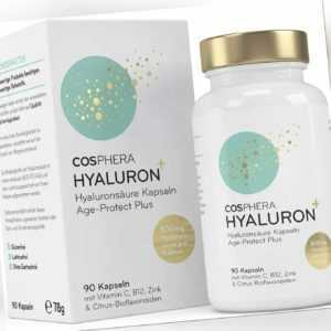 49,99€/100g - Cosphera Hyaluronsäure hochdosiert 500mg, 90 vegane Kapseln NEU!