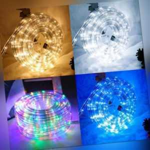 LED Lichterschlauch Party Lichtschlauch Außen/Innen Innen Lichterkette 2m-100m