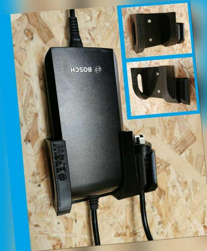 Wand Halterung Batterie Ladegerät Halter für Bosch eBike e-Bike Akku 2A 4A 6A