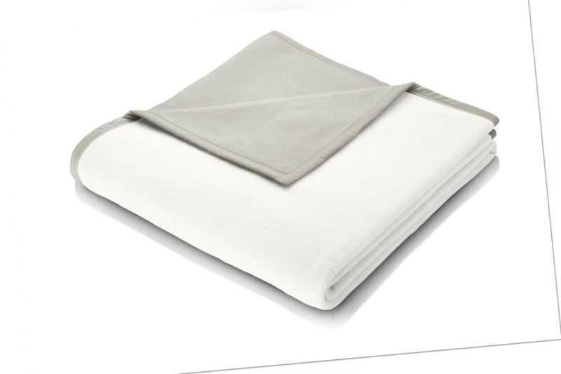 Biederlack Wohndecke Decke Orion Cotton weiß grau 150x200cm mit