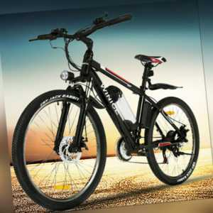 "Elektrofahrrad E-Bike E-MTB Mountain Bike Pedelec Shimano 21-Gäng 36V Li-Ion 26"""