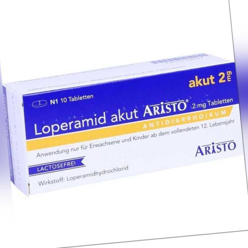 LOPERAMID akut Aristo 2 mg Tabl.   10 st   PZN7756497