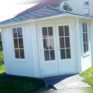 5 Eck Gartenhaus Blockhaus ohne Boden 3x3M Holz Pavillon 28mm Leonie EB28029oF