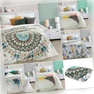 Decke Wohndecke Kuscheldecke Tagesdecke Bettüberwurf Mandala Boho